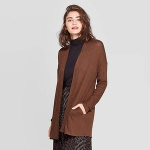 A New Day Brown Open Neck Layering Cardigan